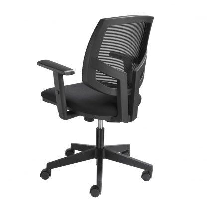 Achterzijde bureaustoel met mesh rug