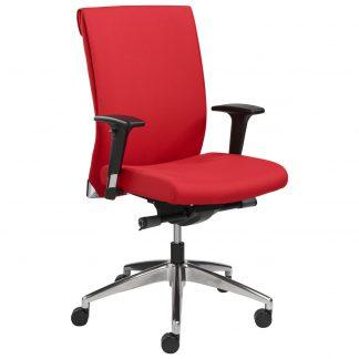Bureaustoel in rode stof