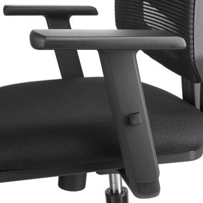 Detail armleggers budget bureaustoel