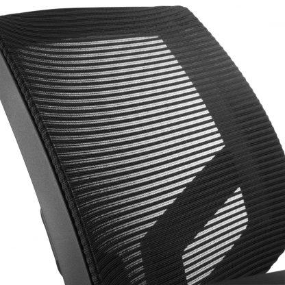 Detail mesh netwave rugbekleding bureaustoel budget