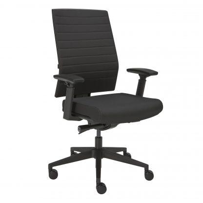 Zwarte bureaustoel van de Kantoorinrichter