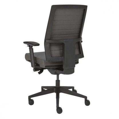 bureaustoel achterzijde grijs