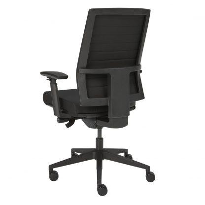 bureaustoel achterzijde met zwarte bekleding