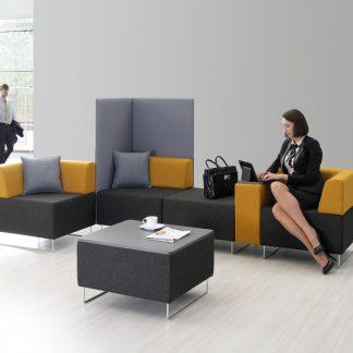 Modulaire kantoorbank Quadra is in vele opstellingen en kleurstelligen uit te voeren