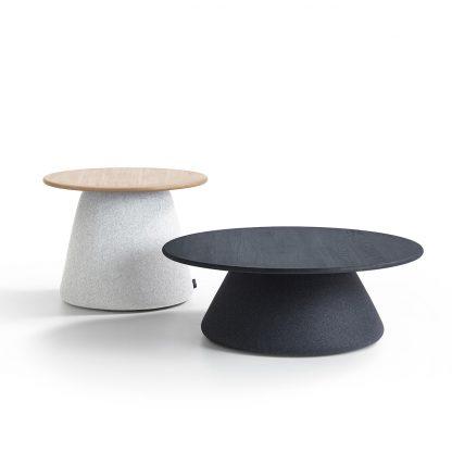 Terp tafel in twee verschillende hoogtes leverbaar