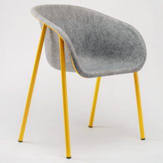 De LJ1 PET Felt fauteuil van De Vorm