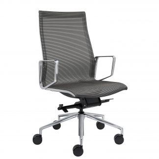 Moderne bureastoel directiefauteuil met antraciet mesh bekleding