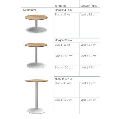 Maatvoering Informa tafel