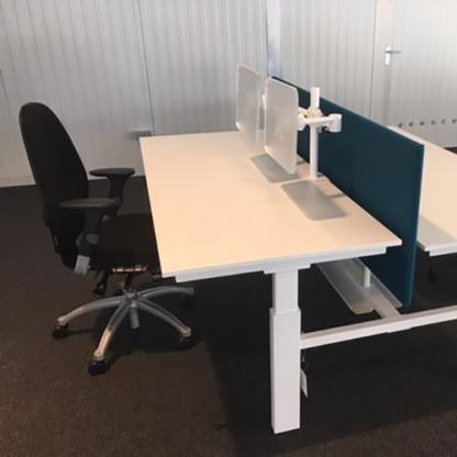 Bureauwand voor duo bench
