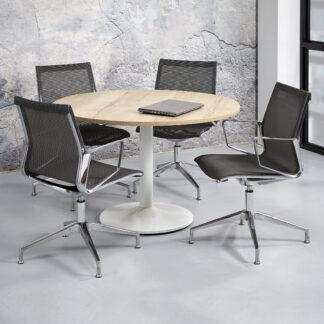 Ronde vergadertafel met zuilvoet doorsnede 120 cm