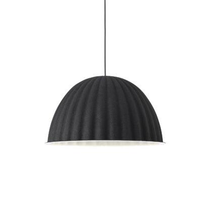 Zwarte akoestische lamp gemaakt van PET felt