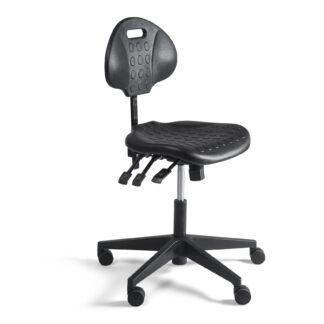 Werkstoel laag zwart