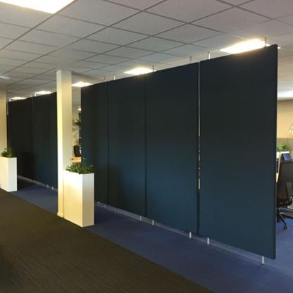 Akoestische Roomdividers zijn ideaal voor het afschermen van ruimtes op kantoor