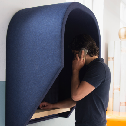 Akoestische hangende telefooncel voor op kantoor
