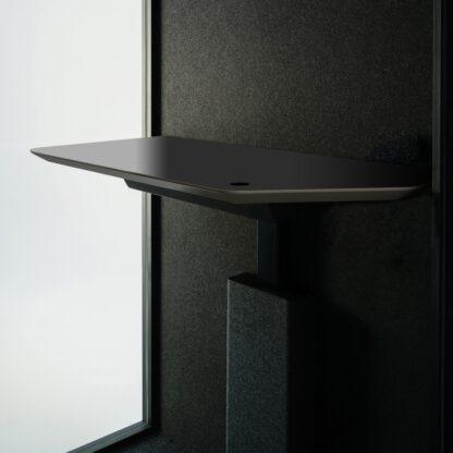 Tafeltje wordt standaard op vaste hoogte geleverd. Tegen meerprijs met sta zit tafeltje
