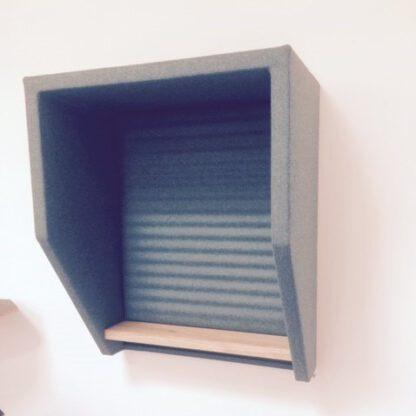akoestische hangende telefooncel met vierkante hoeken
