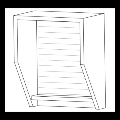 telefooncel hangend vierkante hoeken