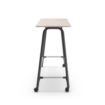 Sedus SeLab High Desk Agile- Hoge overlegtafel - zwart onderstel -verrijdbaar