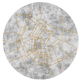 Rond Karpetmet de kaart van Amsterdam