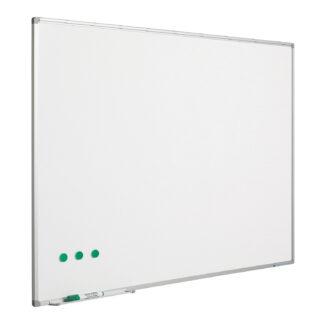 Whitebord Softline profiel 8mm, emailstaal wit